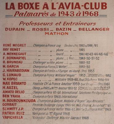 Palmarès Avia Club de 1943 à 1968